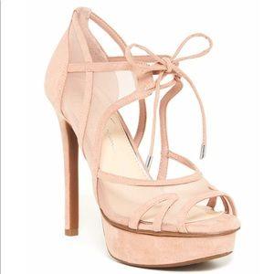 Jessica Simpson Pink Suede Carmita High Heel